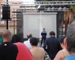 foto del discurs de la candidata a l'alcaldia de Valencia per AVANT